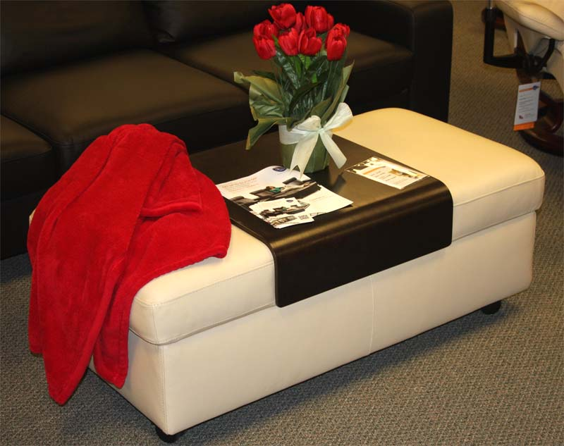 Stressless Double Ottoman And Table In Paloma Kitt From Ekornes