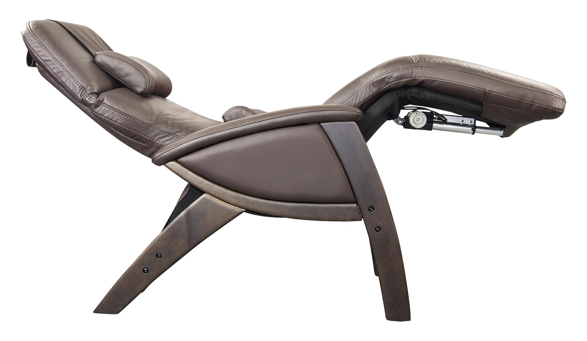 Gentil Chocolate Leather Svago SV410 Benessere Chair Zero Gravity Recliner