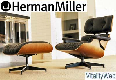 Herman Miller Eames Lounge Chair And Ottoman   New Leather With Santos  Palisander, Natural Cherry, Walnut And Cherry Molded Wood Frame.