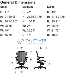 aeron colors - Aeron Chair Sizes