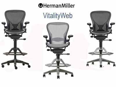 herman miller aeron stool dimensions - Herman Miller Aeron Chair