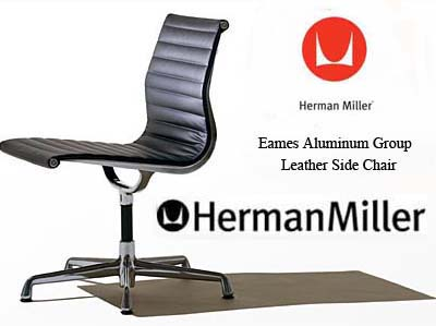 Attractive Eames Aluminum Group Side Chair By Herman Miller