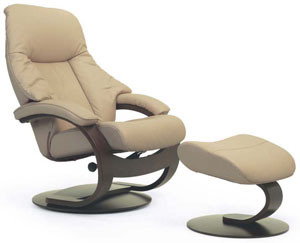 Charmant Fjords Giske Ergonomic Recliner Chair And Ottoman C Frame Scandinavian  Lounger