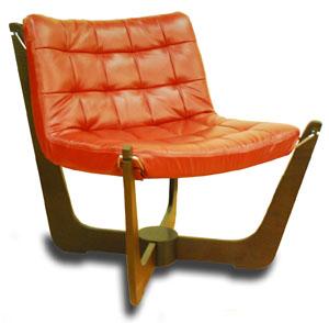 Fjords Walnut Phoenix Chair By Hjellegjerde. Scandinavian Norwegian  Furniture Collection
