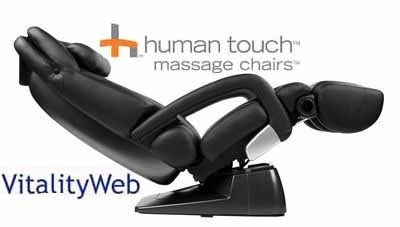 HT 7450 Black Leather Massage Chair Recliner