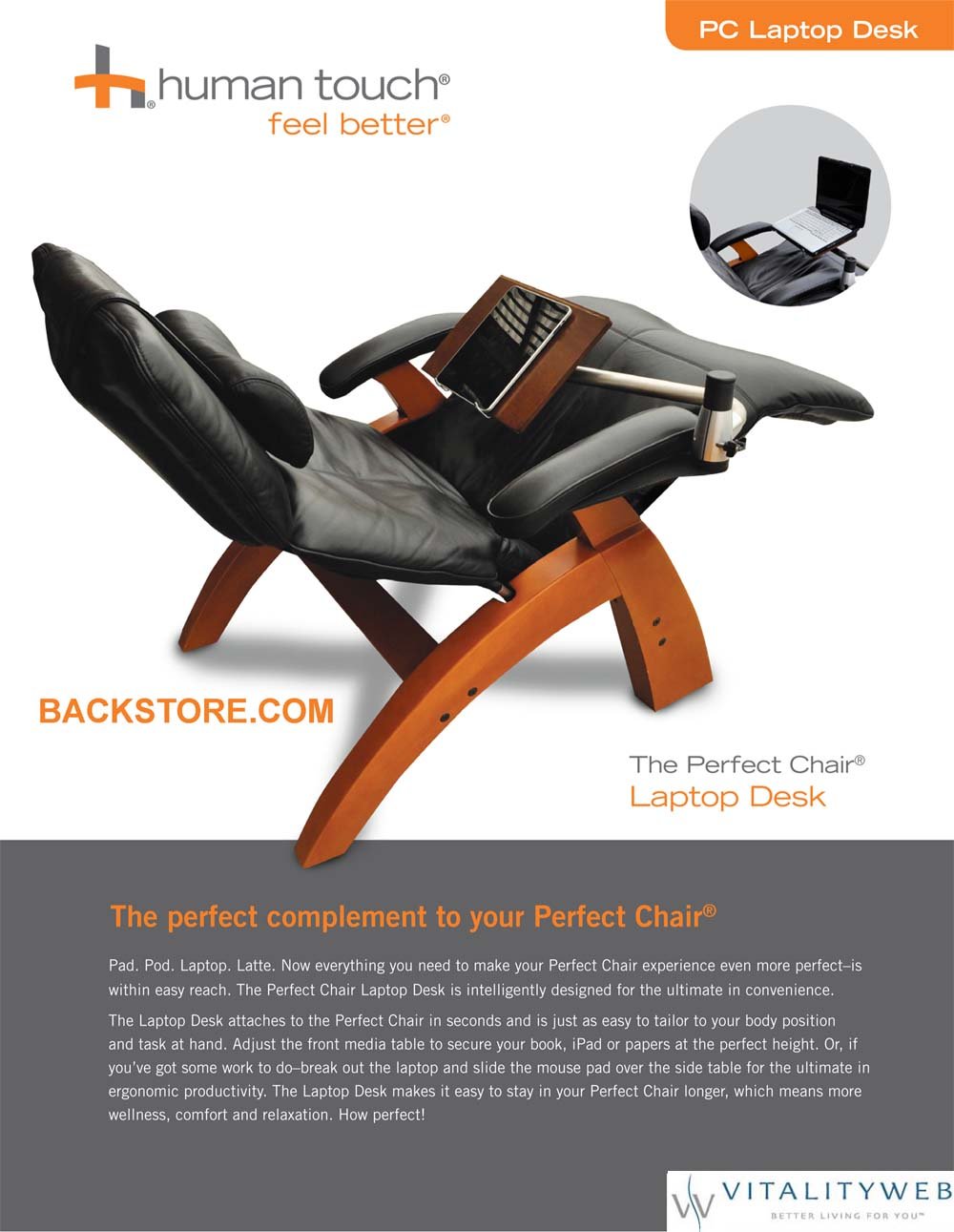 ... The Human Touch Perfect Chair · Laptop Table ...